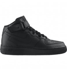 NIKE AIR FORCE 1 MID GS NEGRO