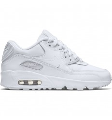 NIKE AIR MAX 90 LEATHER GS WHITE